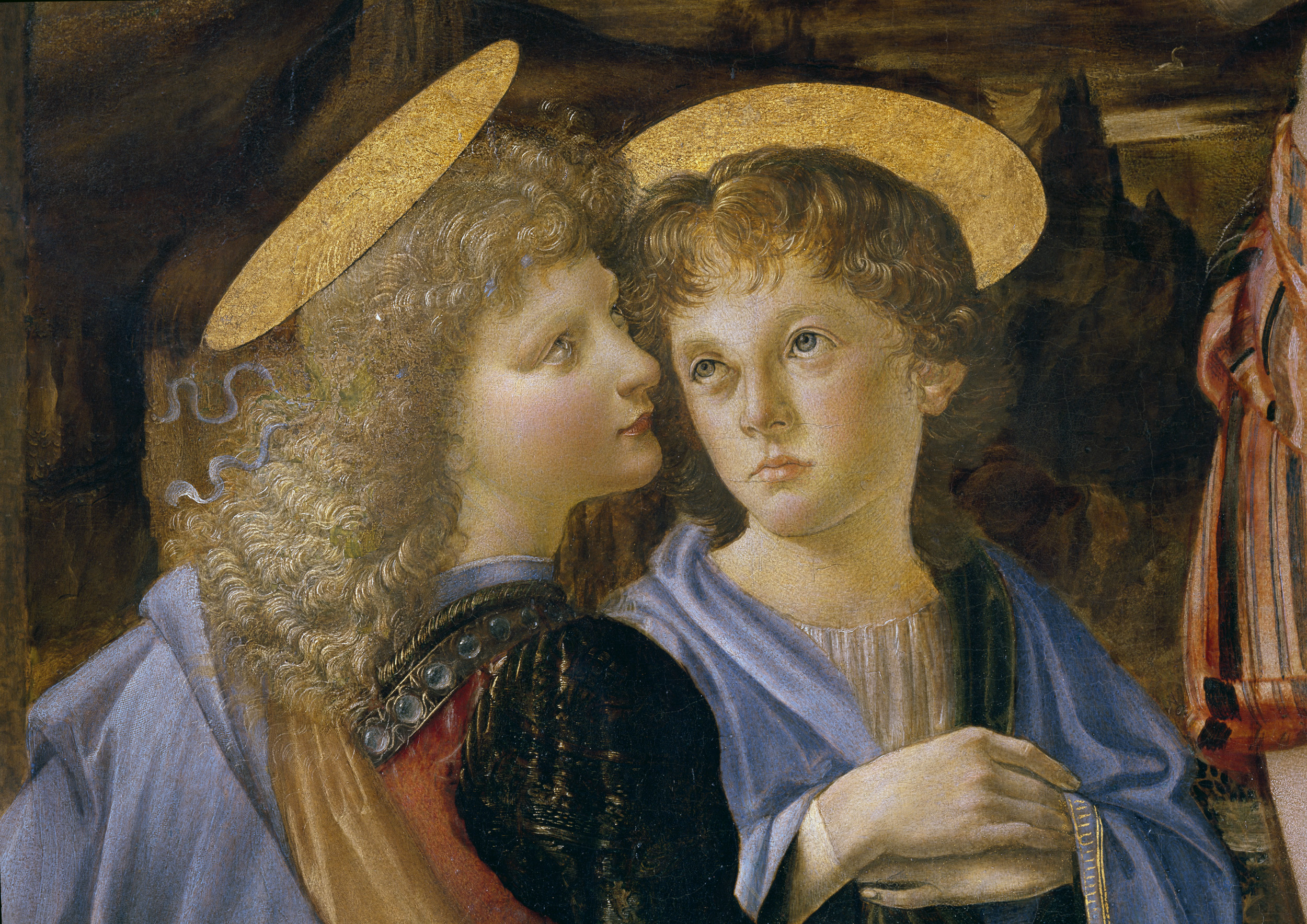 Baptème du Christ Leonard de Vinci